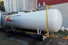 Depósito para factoria con 4880 litros con gasificador