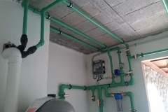 Sala centralización de agua sanitaria/riego en PPR